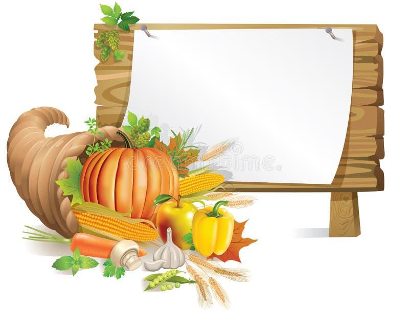 Доска изобилия деревянная бесплатная иллюстрация