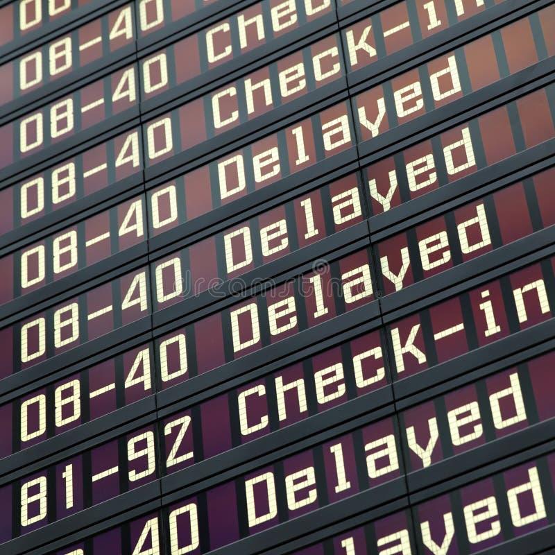 Доска информации в авиапорте стоковые изображения