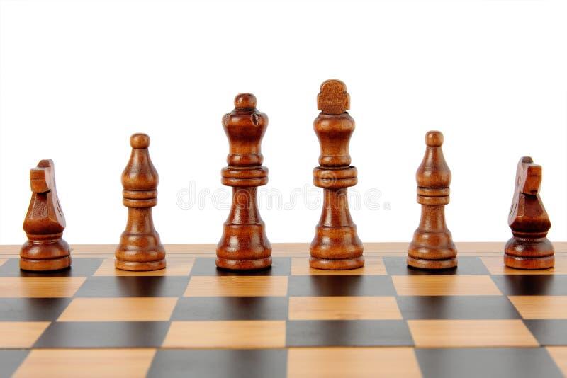 Доска и шахмат стоковая фотография rf