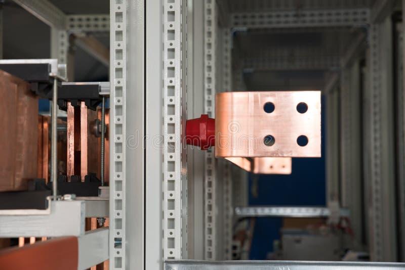 Доска наивысшей мощности электрическая с медными барами стоковое изображение