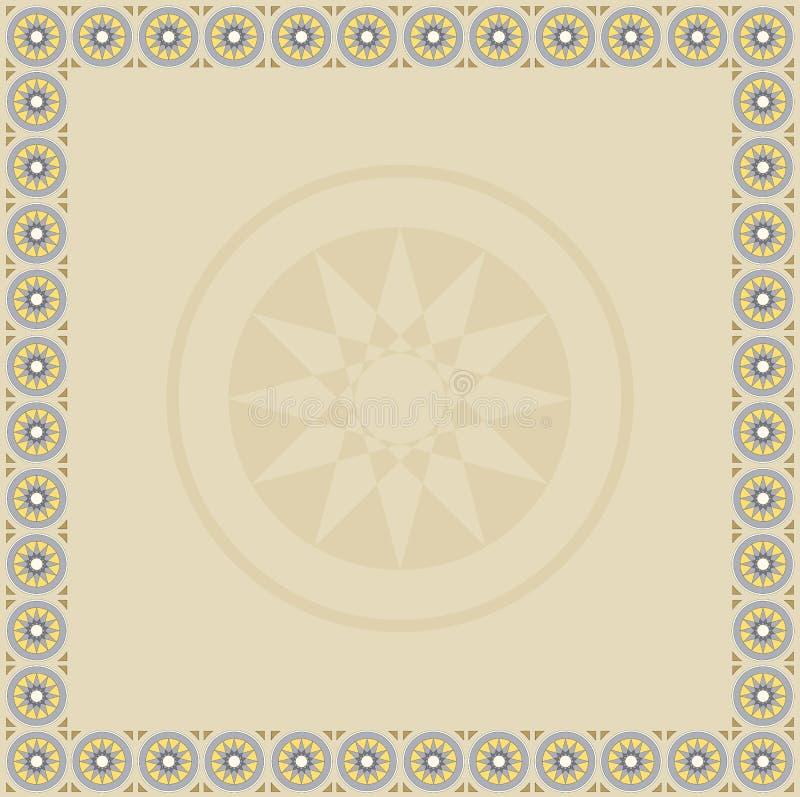 Доска представления покрытая с одним из логотипа знака Solomon с черным borde бесплатная иллюстрация