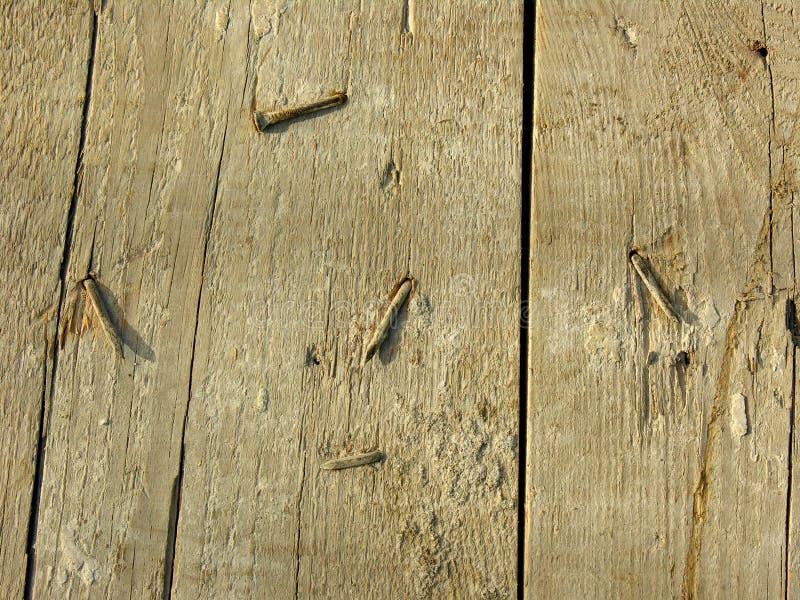 доска пригвождает старое заржаветое деревянное стоковая фотография rf