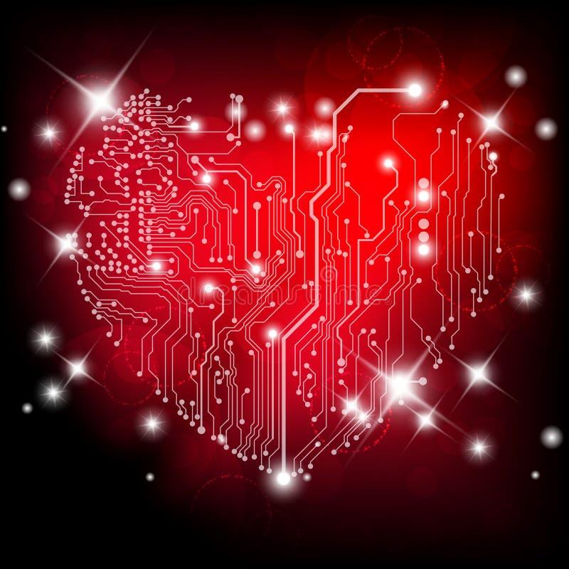 Доска сердца электрическая иллюстрация штока