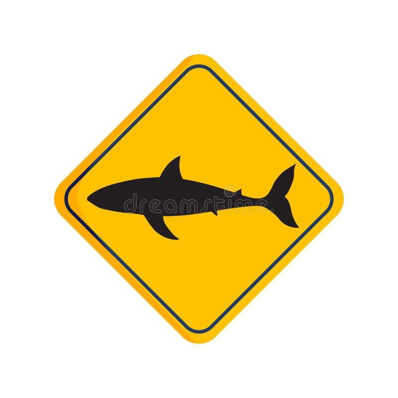Доска силуэта акулы вектора иллюстрация штока