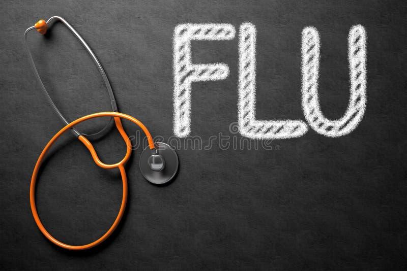 Доска с концепцией гриппа иллюстрация 3d иллюстрация штока