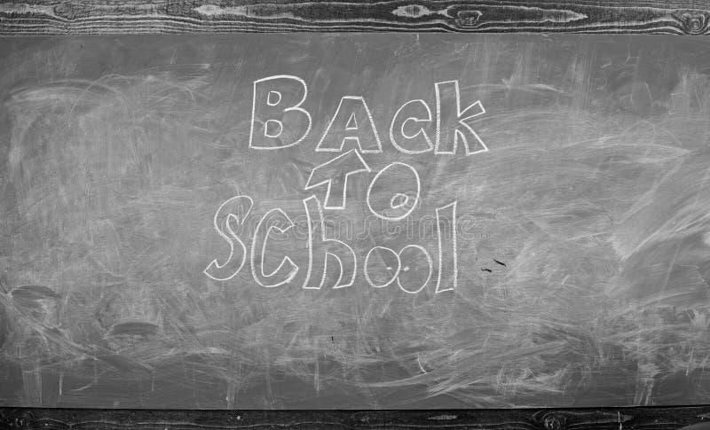Доска с надписью назад в школу Назад в школу оно никогда последний для того чтобы изучить Время в сентябре подпереть к изучать стоковое изображение rf