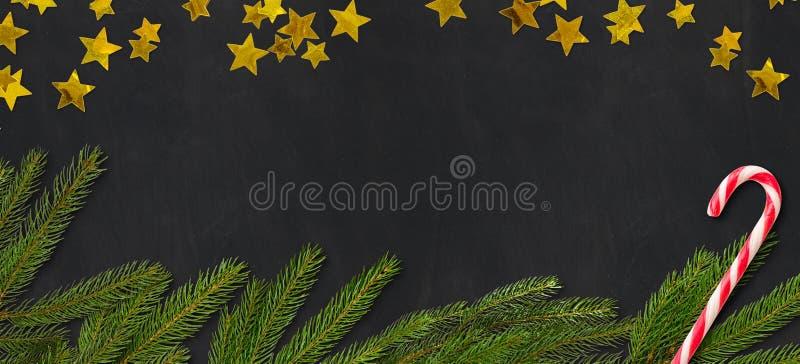 Доска с украшением и copyspace рождества бесплатная иллюстрация
