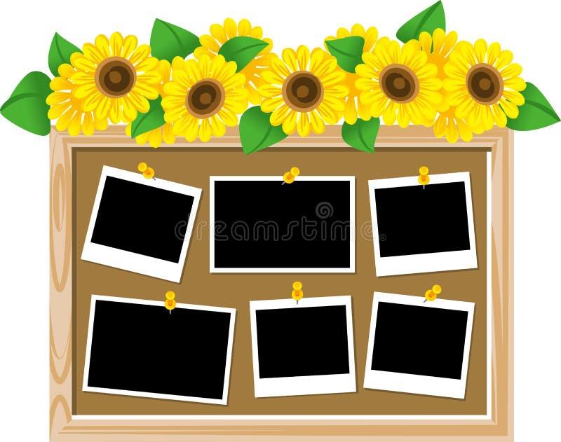 Доска текста солнцецвета иллюстрация вектора