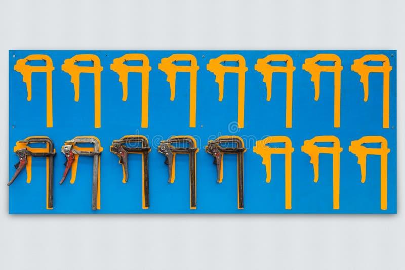 Доска тени струбцины f храповика стоковое фото rf