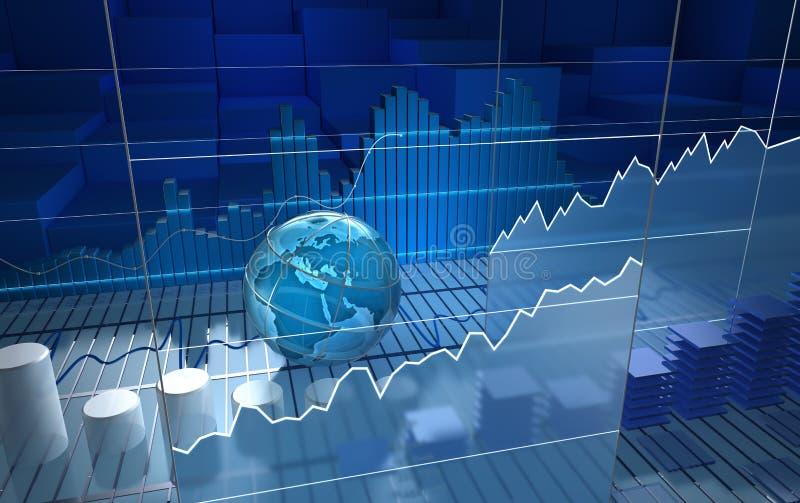 Доска фондовой биржи иллюстрация вектора