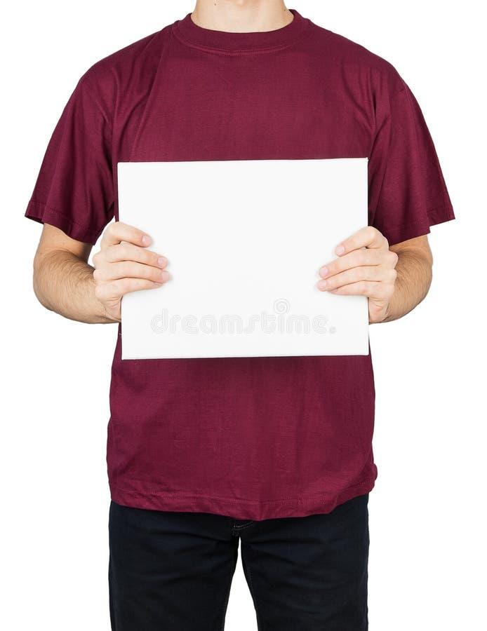 Доска футболки человека стоковая фотография