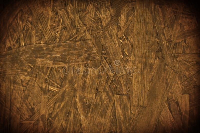 Доска частицы обломока grunge Брайна отжала деревянную предпосылку границы стоковое изображение rf