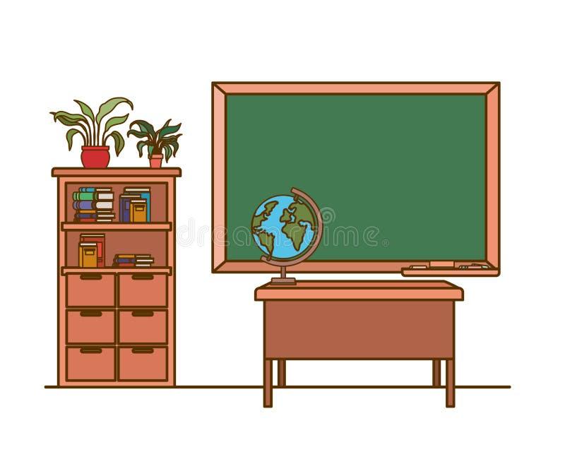 Доска школы в классе иллюстрация штока