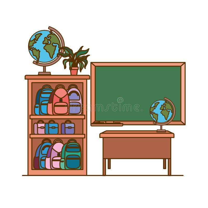 Доска школы в классе бесплатная иллюстрация