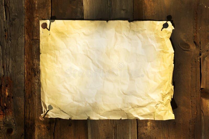 доски предпосылки закрепили старую бумагу стоковое изображение