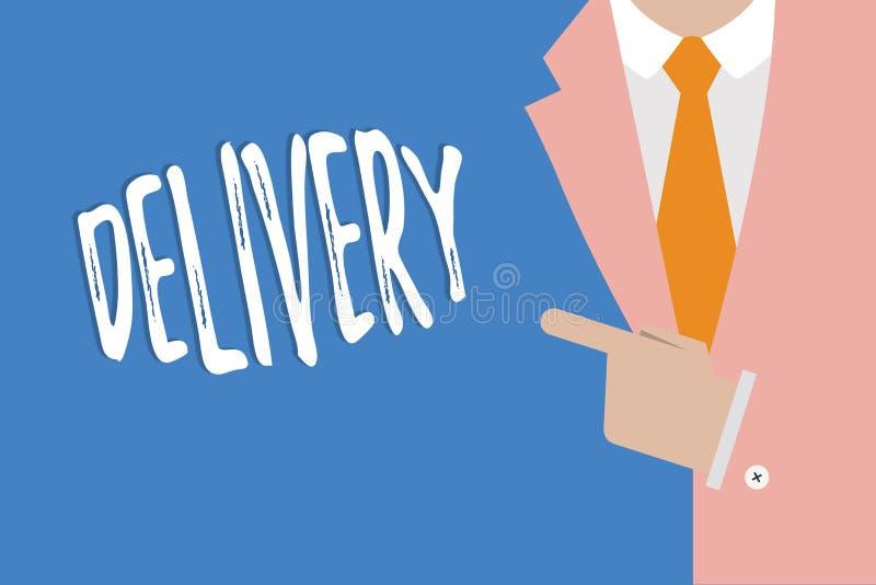 Доставка сочинительства текста почерка Концепция знача действие поставлять пакеты или товары писем давая рождение бесплатная иллюстрация