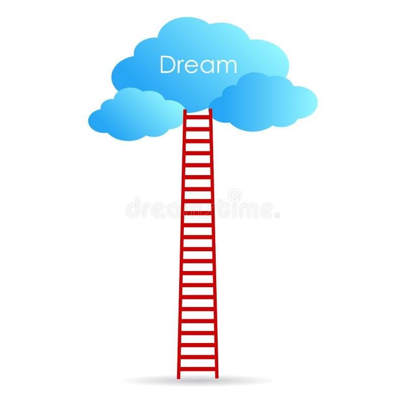 Достигните вашу мечту иллюстрация штока