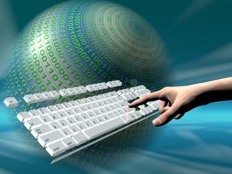 достигните клавиатуры интернета иллюстрация вектора