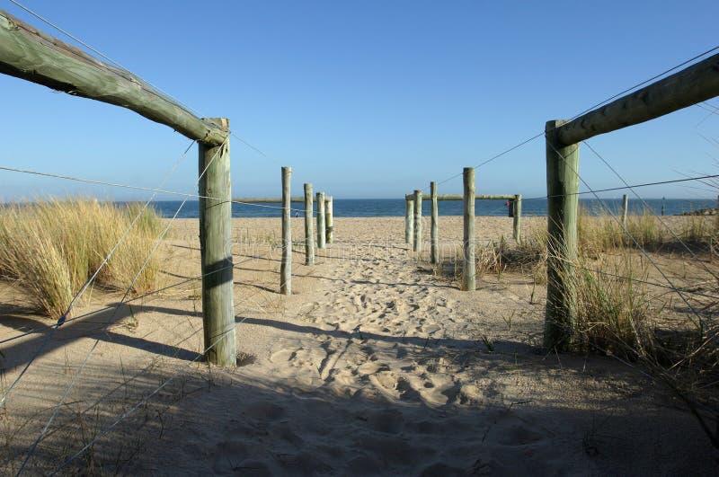 достигните пляжа Стоковое Изображение