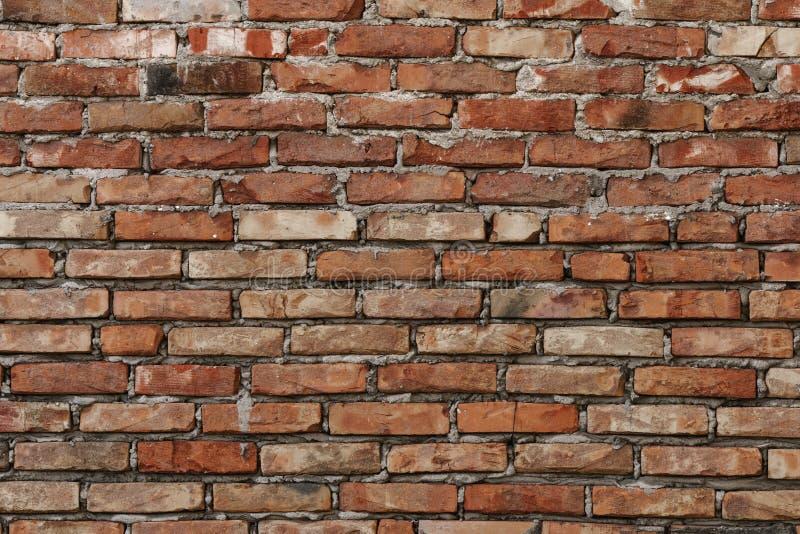 Достигшая возраста предпосылка текстуры кирпичной стены стоковые изображения