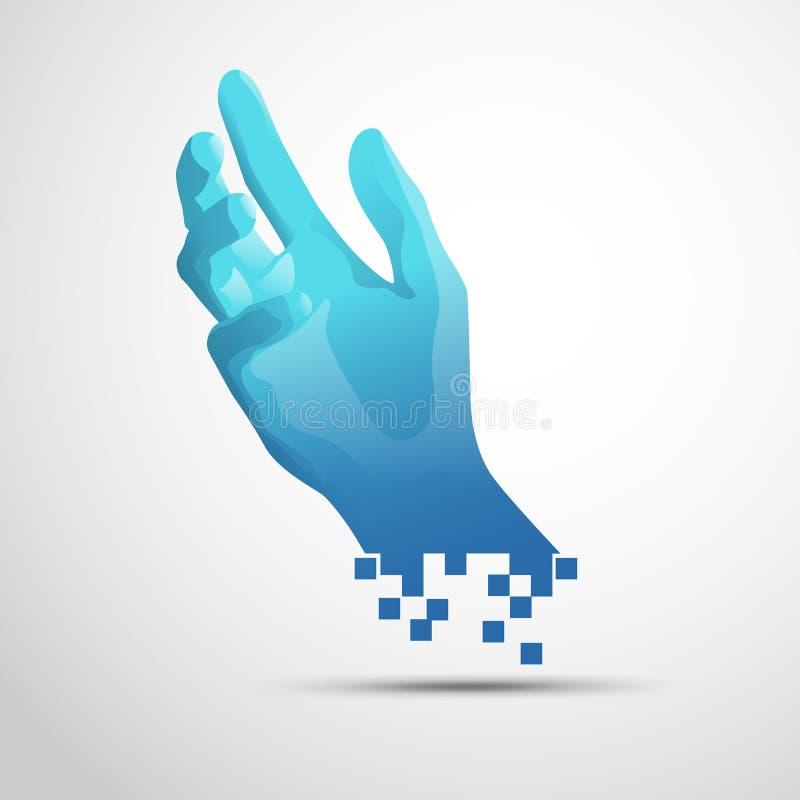 Достижение руки цифров иллюстрация вектора