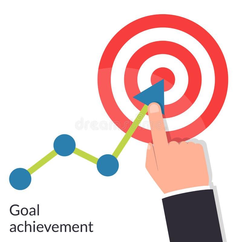 Достижение цели Диаграмма пути к цели Успешный путь до цели иллюстрация вектора
