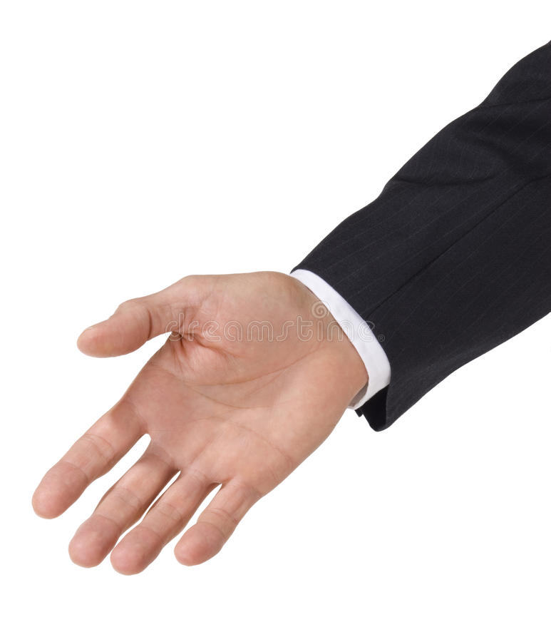 достижение человека руки дела стоковая фотография