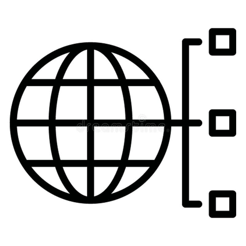 Доступ в интернет изолировал значок вектора который может легко доработать иллюстрация штока