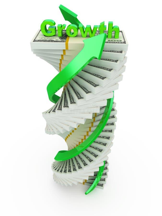 доход роста принципиальной схемы иллюстрация вектора