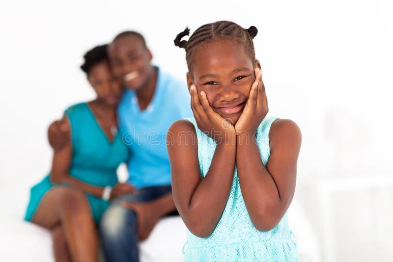 Дочь и родители стоковые изображения rf