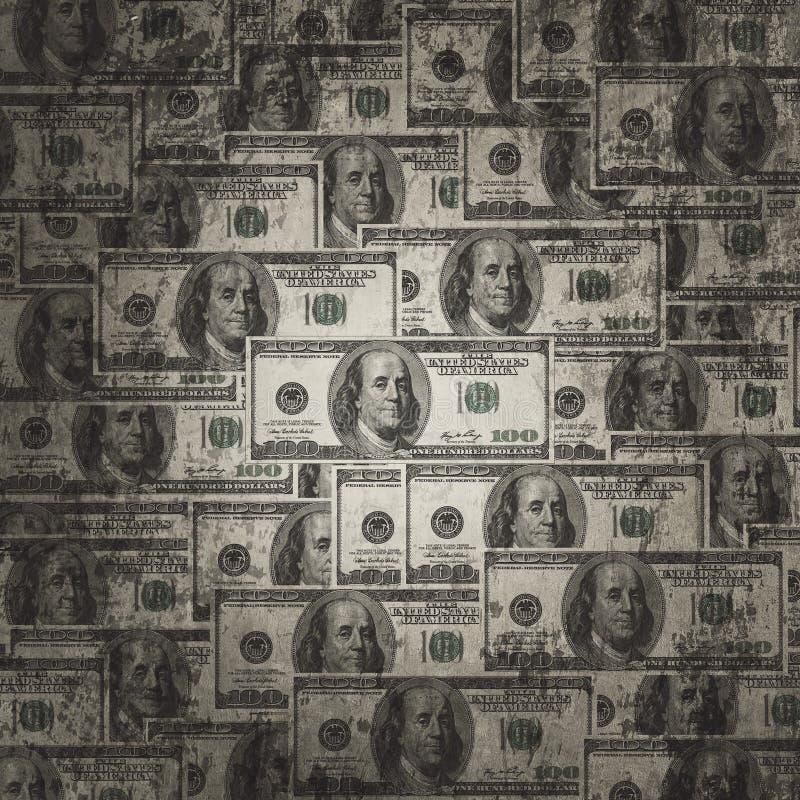 Долларовые банкноты американца 100 бесплатная иллюстрация