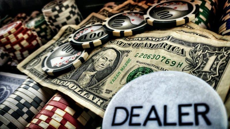 Доллары & покер стоковое изображение rf