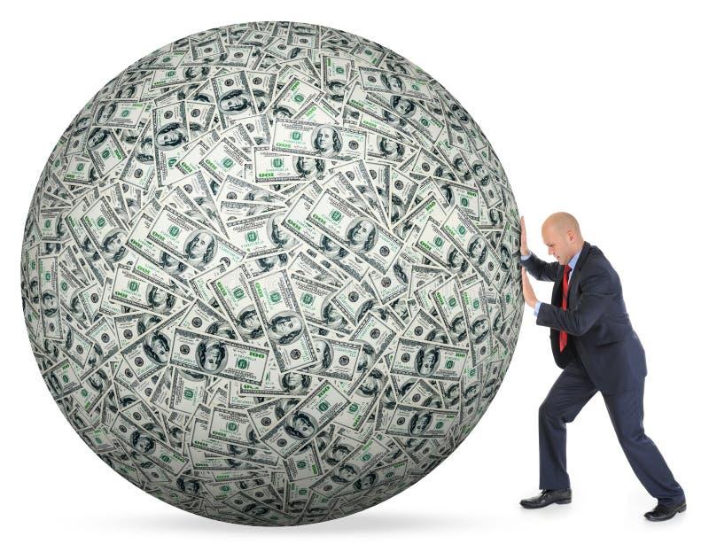 Доллары складывают как предпосылка стоковая фотография rf