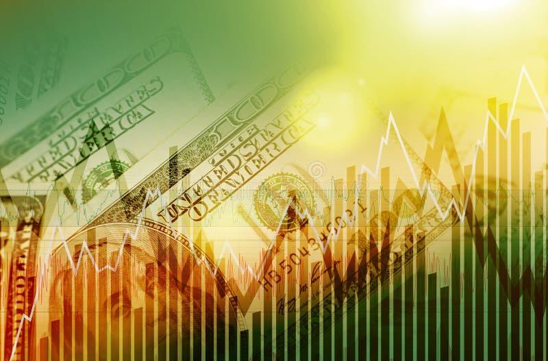 Доллары США торгуя концепцией бесплатная иллюстрация