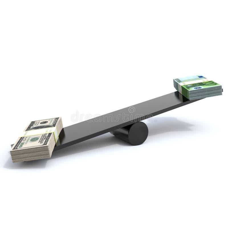 Доллар & евро иллюстрация штока