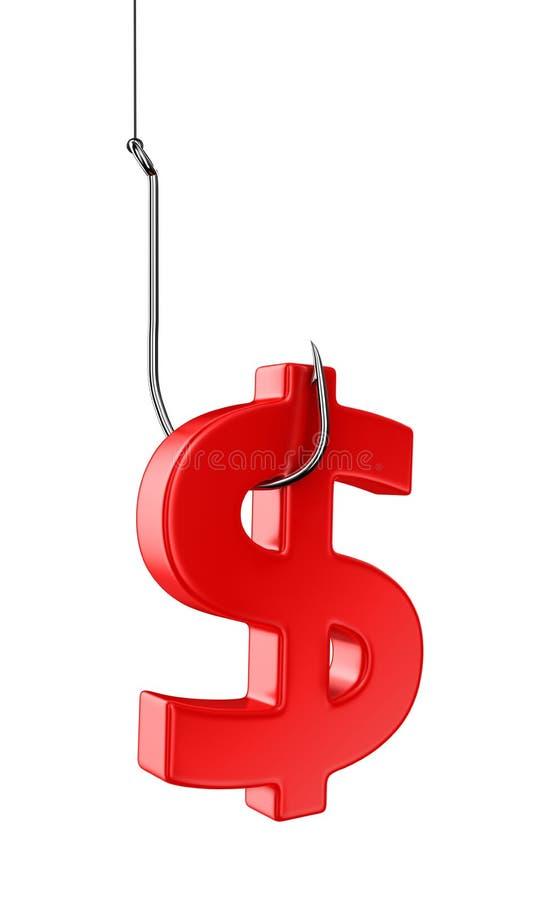 Доллар на крюке иллюстрация вектора
