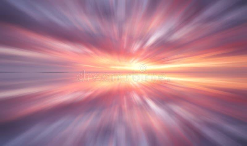 Долгая выдержка облаков на заходе солнца стоковые фото