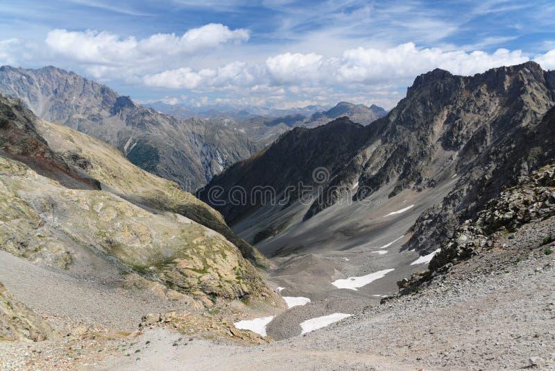 Долина Альпов француза стоковое изображение rf