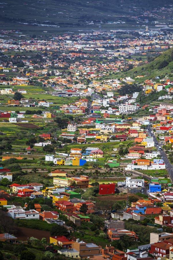Долина в горе Anaga стоковое изображение rf