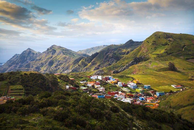 Долина в горе Anaga стоковое фото rf