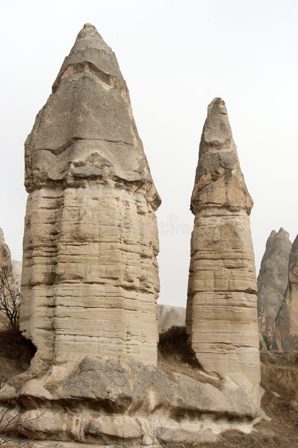 Долина влюбленности, зона Goreme, Турция стоковое изображение rf