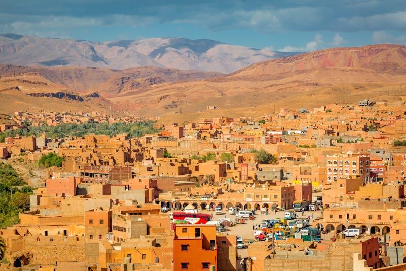 Долина города Boumalne Dades, Марокко стоковое изображение rf