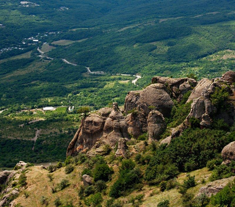 Долина призраков на горе Demerdji стоковые фотографии rf