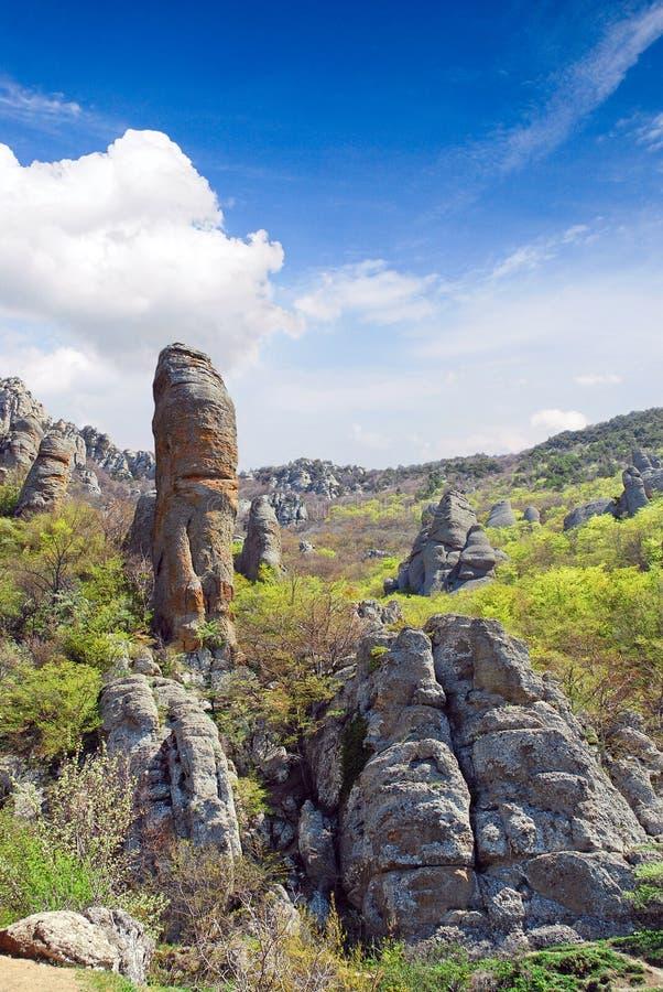 Долина призраков, Сrimea стоковое изображение rf