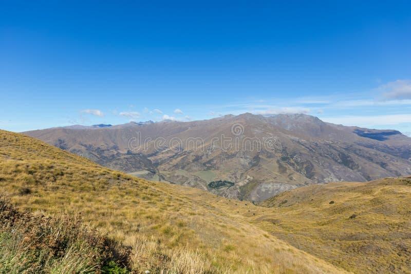Долина сценарная, Новая Зеландия Cardrona стоковое изображение rf