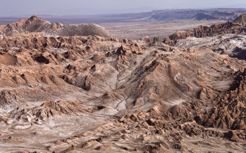 Долина умерших - пустыня Atacama - Чили стоковая фотография rf