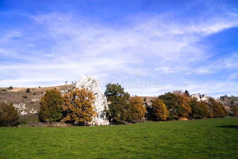 Долина Eselsburger Tal на осени стоковое изображение
