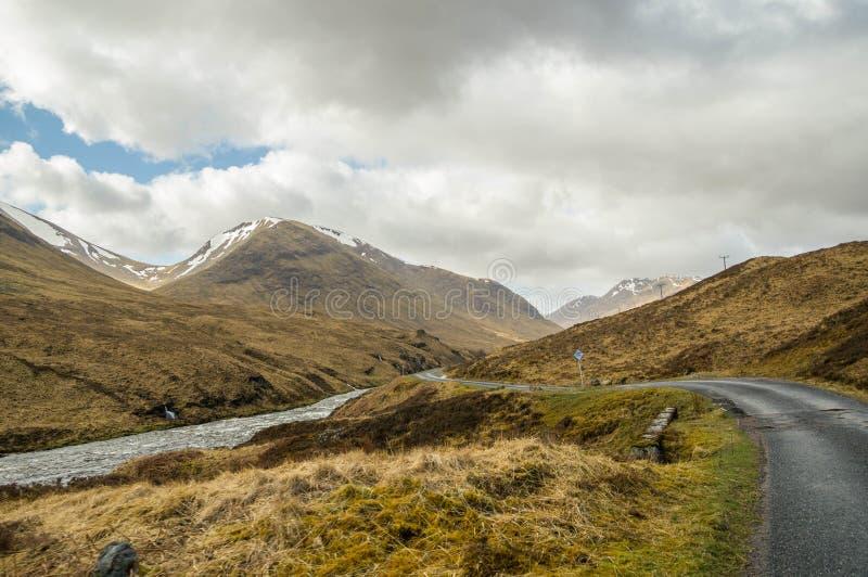 Долина Glencoe стоковое изображение