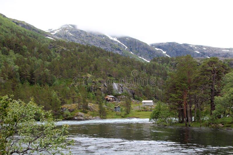 Долина Husedalen в национальном парке Hardangervidda, Норвегии стоковая фотография