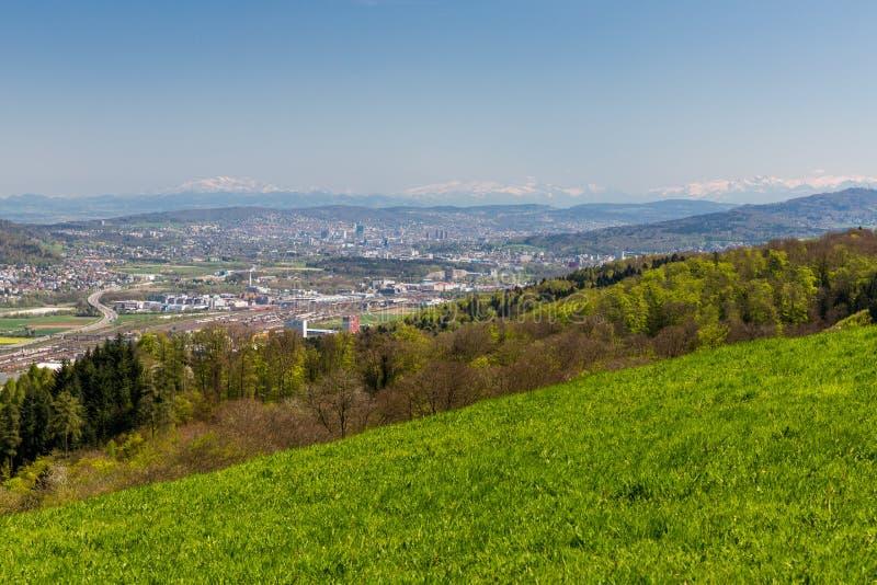 Долина Limmat обозревает стоковое изображение rf